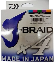Daiwa X4 J Braid - 300M Multi Colour