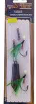 Jarvis Walker Flasher Rigs (GREEN/CHARTREUSE) - with Sinker 3/0 hooks