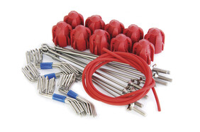 Standard Grip Assembly Kit Red - Long Tail Wires (10 Pc Set)