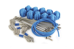 Standard Grip Assembly Kit Blue - Long Tail Wires (10 pc set)